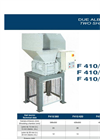 2 Shaft shredder datasheet F10HP series - SatrindTech Srl