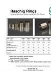 Raschig Rings Traditional Metal Tower Packing Brochure