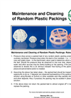 Maintenance and Cleaning of Random Plastic Packings - Brochure