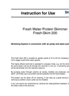 Fresh Water Protein Skimmer  Fresh-Skim 200  Brochure