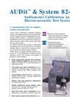AUDit Software Datasheet - For Audiometer Calibration Brochure