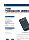 Model CAL150 - Precision Acoustic Calibrator Brochure