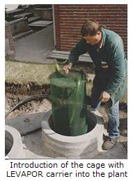 LEVAPOR carrier in small sewage treatment plants