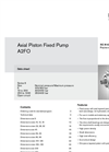 Rexroth - Model A2FO - Axial Piston Fixed Pumps - Brochure