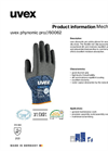 uvex - Model Pro - Phynomic Lite Safety Glove Brochure