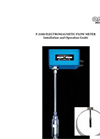 F-3500 Insertion Electromagnetic Flow Meter Manual