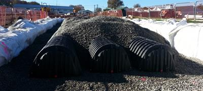 Stormwater ChamberMaxx™ - Corrugated, Open-bottom Plastic Arch System