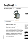 IceBlast - KG20 - Dry Ice Blasting Machine Technical Specifications