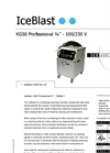 "IceBlast - Model KG50 Professional ¾"" - 110/230 V - Dry Ice Blasting Machine Specifications"