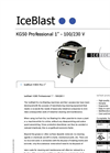 "IceBlast - Model KG50 Professional 1"" - 110/230 V - Dry Ice Blasting Machine Specifications"