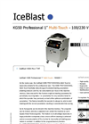 "IceBlast - Model KG50 Professional 1"" Multi-Touch - 110/230 V - Dry Ice Blasting Machine Specifications"