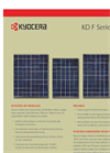 Kyocera - F Series - Multicrystal Photovoltaic KD Modules - Brochure