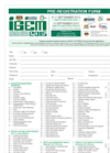 International Greentech & Eco Products Exhibition & Conference Malaysia (IGEM) - 2015 - Pre-Registration Form