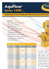 AquFlow - Model Series 1000 - Hydraulically Actuated Diaphragm Metering Pumps Features Brochure