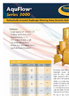 AquFlow - Model Series 3000 - Hydraulically Balanced Diaphragm Pump Features Brochure