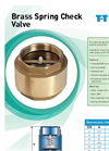 Brass Spring Check Valve- Brochure