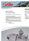 Utile - CL90 - Lubricated Rotary Sliding Vane Compressor - Brochure