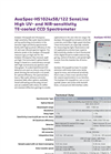 AvaSpec - HS1024 x58 -122 - High-Sensitivity Fiber-Optic Spectrometers Brochure