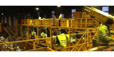 Waste recycling systems for materials recovery facilities (MRF)