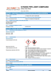 X-Pando - Pipe Joint Compound MSDS