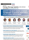 Energy Storage Update USA 2016 - Brochure
