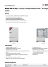 BINDER - Model KBF P 240 - Growth Chambers with Light Brochure