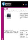 Model EOE - In-line High Speed Leak Testing Machine Brochure