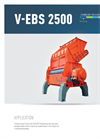 Single-Shaft Shredder For Residue Derived Fuel (RDF) V-EBS 2500 Brochure