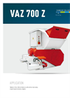 Model VAZ 700 - Single Shaft Shredders Brochure