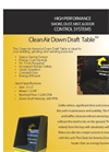 Clean Air America Down Draft Table Flyer