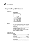 Preamplifiers - 2661 Charge Amplifier Datasheet