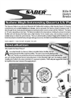 Sanuvox - Saber - High Intensity Quartz LV Purifier - Brochure