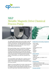 Model MKP - Stainless Steel Magnetic Drive Chemical Process Pump Datasheet
