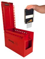 Large Portable Group Lock Box with Key Window & Rewritable Tag
