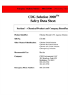 CDG Solution 3000 - Safety Data Sheet