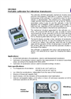 Portable calibrator for vibration transducers