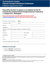 7th Australia–New Zealand Climate Change & Business Conference - Booking Form