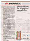 Safety Cabinets For Pressurised Gas Cylinders Brochure