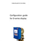 Configuration Guide For D Series Display Manual