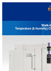 ESPEC - Model E-series - Walk-in Temperature and Climate Chambers Brochure