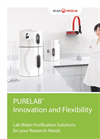 Purelab - Model Chorus 1 - Lab Water Purification Systems Brochure