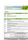 2nd Conference for Green and Sustainable Chemistry - Brochure