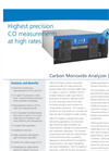 LGR - Carbon Monoxide (CO) Trace Gas Analysers Datasheet
