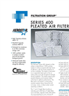 Pleated Air Filter Series 400 Literature