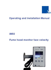 Schneider - Model iM50 - Fume Hood Monitors - Manual