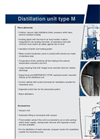 Type M Distillation Unit Brochure