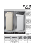 Model 14 x 14 Series - Brine Tanks Brochure