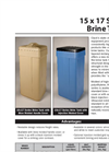 Model 15 x 17 Series - Brine Tanks Brochure