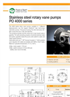Model PO 4000 series - Positive Displacement Rotary Vane Pumps Brochure