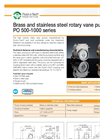 Model PO 500-1000 series - Positive Displacement Rotary Vane Pumps Brochure